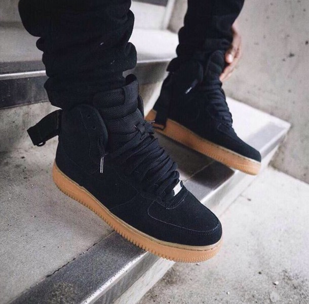 shoes black shoes nike air force 1 suede shoes nike