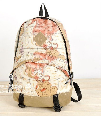 Fashion newspaper backpack new world map travelling bag good hot fashion newspaper backpack new world map travelling bag good quality free shipping in backpacks from luggage gumiabroncs Gallery