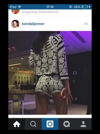 jacket kendall jenner embellished shorts
