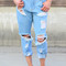 Ripped & frayed bf jeans – shopcivilized
