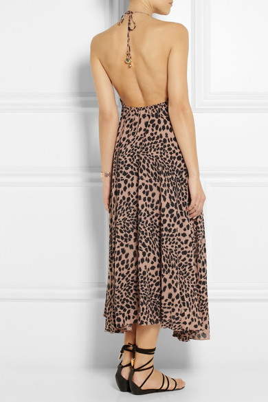 Zimmermann | Sundown animal-print crepe maxi dress | NET-A-PORTER.COM