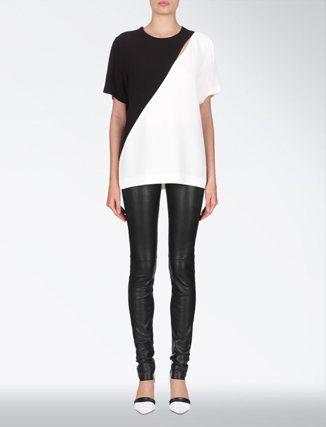 LEATHER STRETCH LEGGING at Joseph