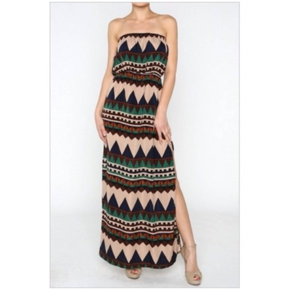 dress tribal pattern tribal print dress maxi dress