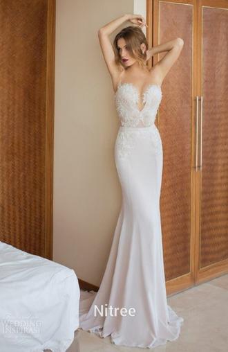 dress long dress white dress lace dress lace boob tube