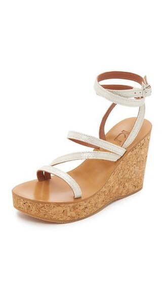 sandals wedge sandals champagne shoes