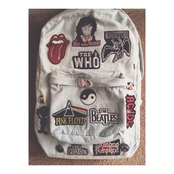 bag band denim backpack