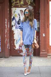 something navy,leggings,top,shoes,bag,sunglasses,jewels