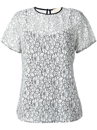 t-shirt shirt women lace white top