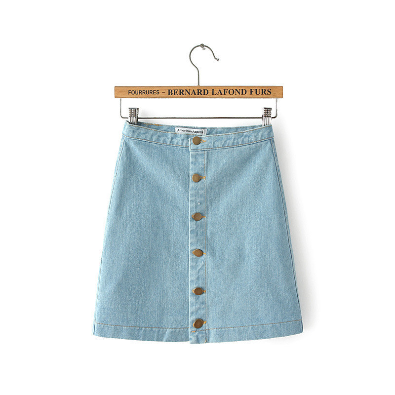 Up Denim Skirt