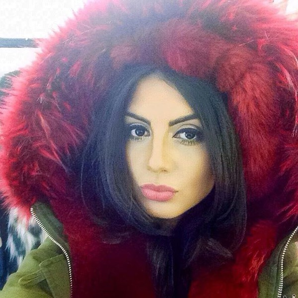 Coat: one nation clothing, red fur parka, red fur hood, fur parka ...
