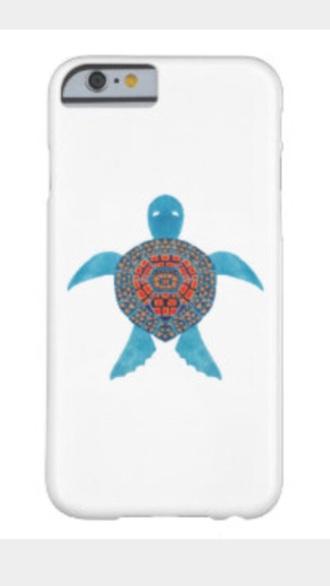 phone cover white sea turtle turquoise orange iphone cover