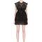 Ruffled sheer tulle mini dress