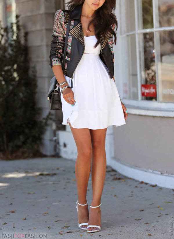 jacket dress white