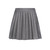 Pleated Wool Mini Skorts Grey