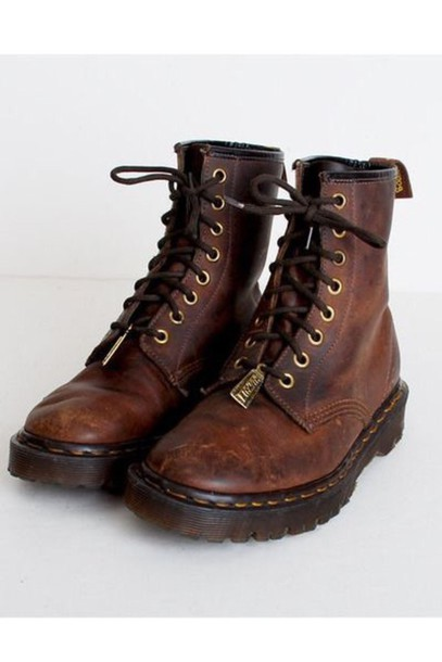 shoes brown leather boots vintage boots wheretoget