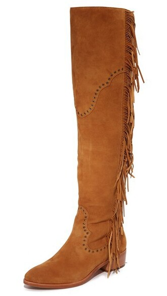 over the knee boots camel shoes