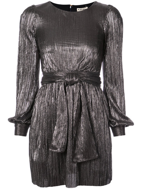 For Love and Lemons dress pleated dress pleated women spandex grey metallic