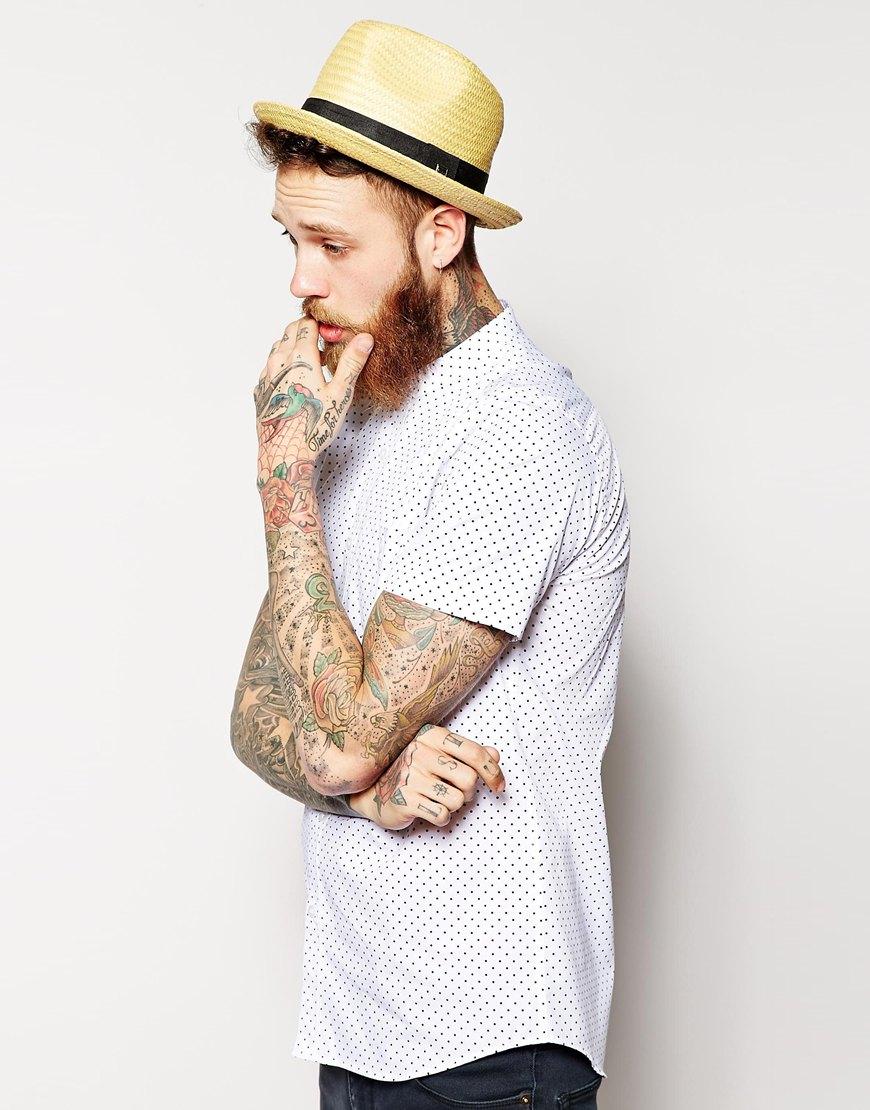 Brixton Castor Straw Fedora Hat at asos.com