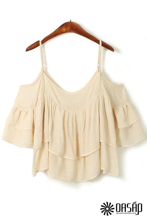 Superb Pleated Linen Cami - OASAP.com