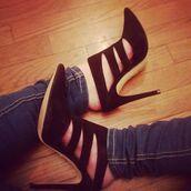 shoes,raye,black,heels,noir,chaussures à talons,chaussures,cut-out,suede,mules,designer,revolve clothing,revolve,high heels,slide shoes,slide on,slip on shoes