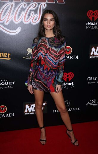 jacket mini dress sandals emily ratajkowski long sleeve dress dress