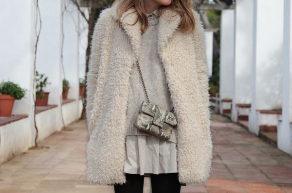 my daily style coat dress sweater bag shoes