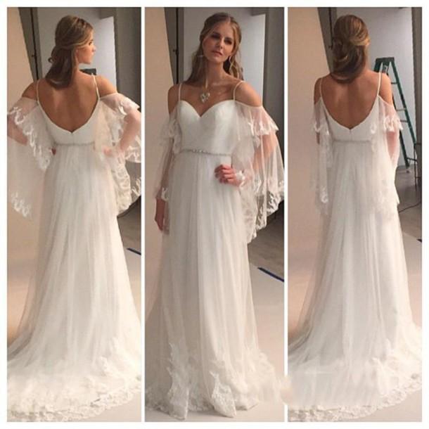 dress greek style a line wedding gowns lace wedding dress beach