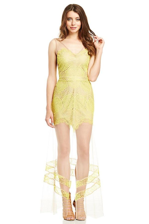 Carissa Lace Mesh Dress