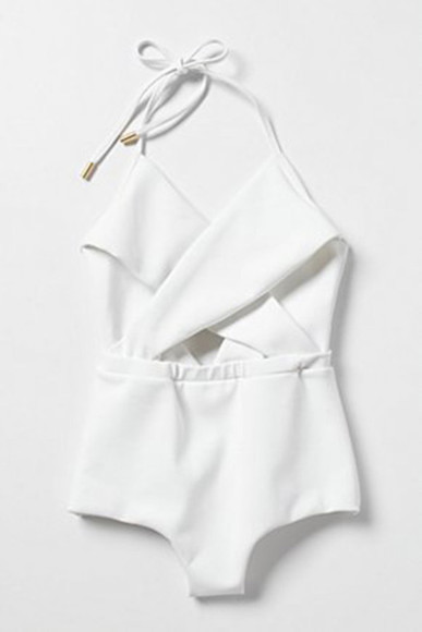 one piece romper swimwear white cute beautiful clothes onepiece tumblr