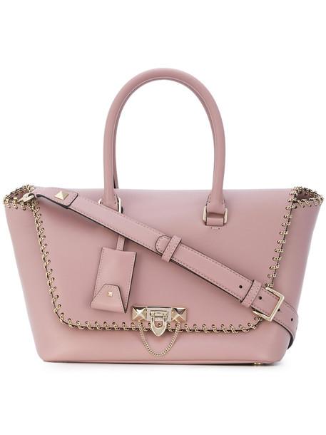 Valentino - Valentino Garavani Demilune tote - women - Leather - One Size, Pink/Purple, Leather
