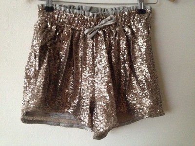 New look metallic sequin sport luxe idol shorts brand new with tags