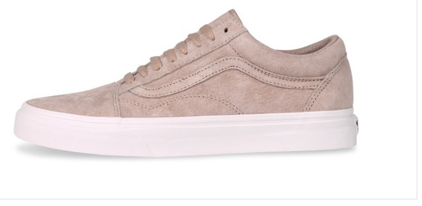 vans old skool premium suede in beige