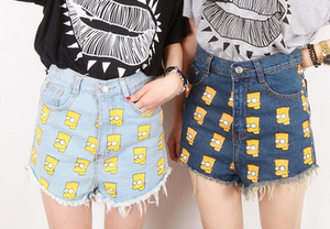 Posh'd official online boutique — bart simpson high waist shorts