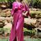 Purple flowy dress - purple silk