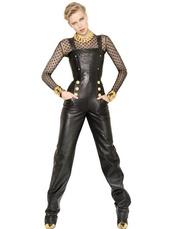 dress,black jumpsuit,balmain