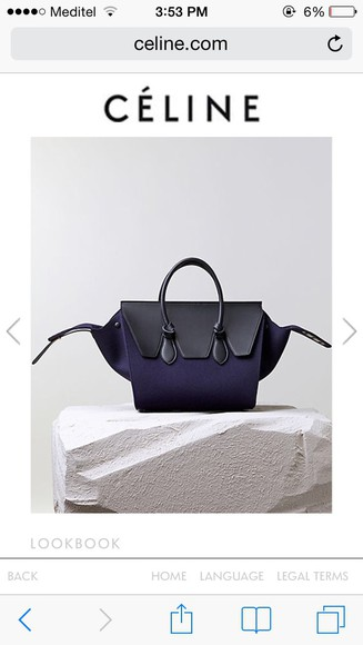 navy bag céline