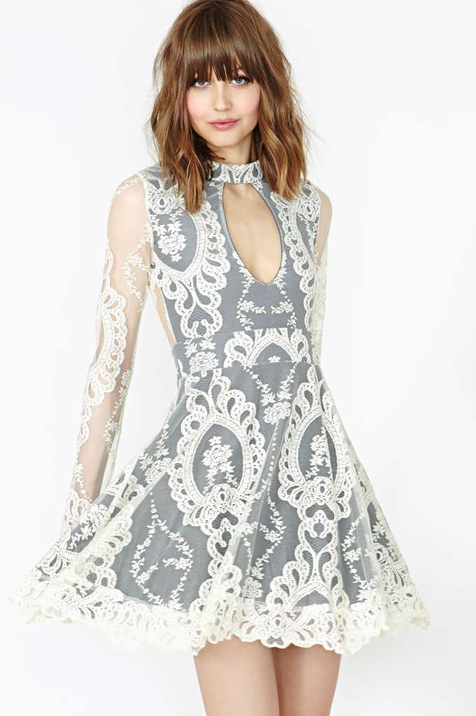 For Love & Lemons Anna Lace Dress | Shop Dresses at Nasty Gal