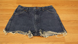 Blue copper cut off shorts (size
