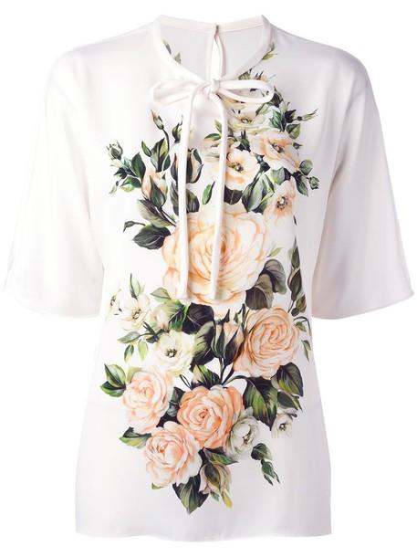 blouse rose women spandex nude print silk top
