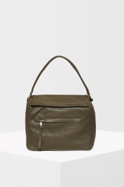 Topshop cross bag leather khaki