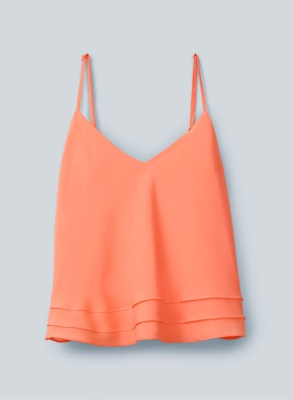 shirt orange cami tank top coral peach