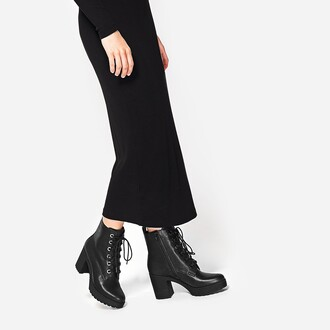 shoes platform shoes platform lace up boots boots black boots lace up leather platform boots black platforms fall outfits fall accessories trendy winter boots black leather black charles and keith