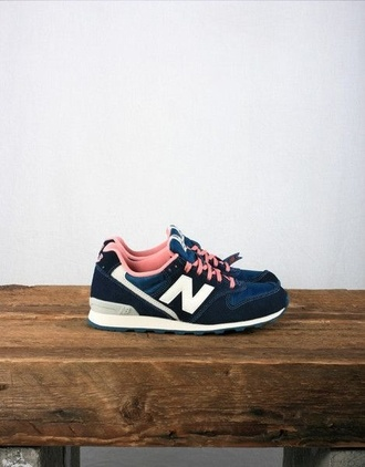 shoes blue white girl new balance dark blue pink baby pink trainers pick colorful lovely retro sneakers bleu basket tennis shoes new balance sneakers love