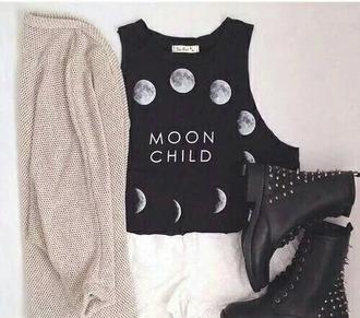 top black top moon child