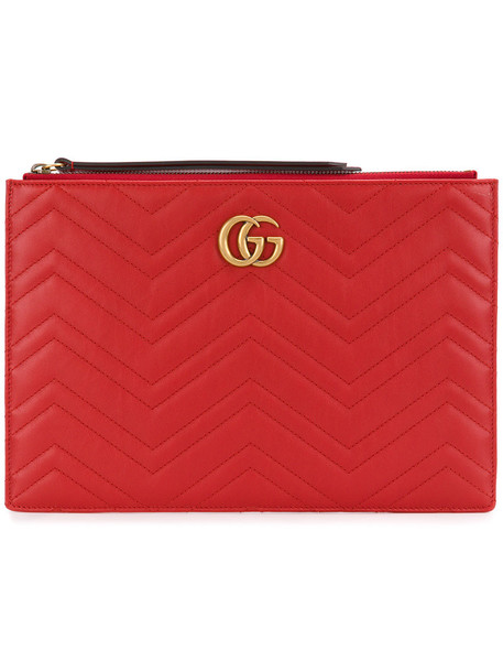 gucci women bag clutch leather red