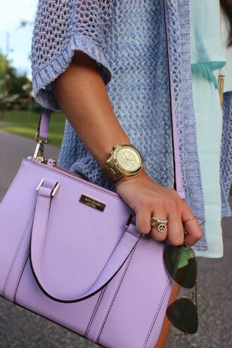 bag purple bag purse purple lavender/lilac kate spade crossbody bag lavender light purple handbag