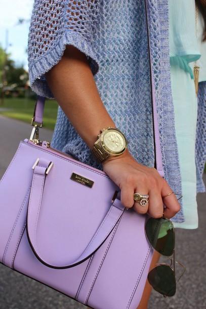 bag purple bag purse purple lavender/lilac kate spade kate spade crossbody bag purse lavender light purple handbag