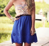 dress,hippie,bustier,short dress,short blue dress,bustier dress,skirt
