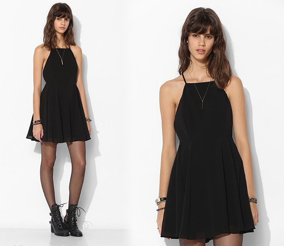 Claire criss cross chiffon dress