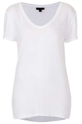 Viscose V Neck Tee - T-Shirts - Tops - Clothing- Topshop